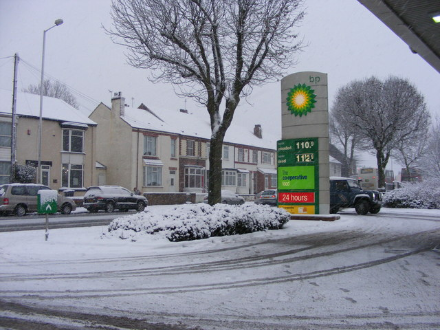 Snowy Forecourt