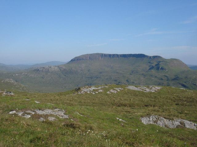 Beinn na Uamha from a pass between Beinn Ghormaig and Beinn Ithearlan