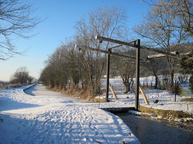 Lift Bridge in the snow