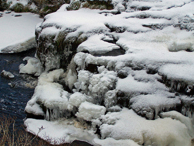 Frozen waterfall in the Red Burn