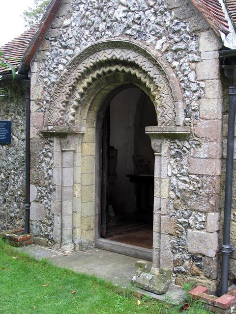 St Mary Magdalene, Tortington, Sussex - Porch
