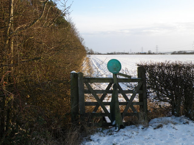 Hunting gate by Cow Pasture Plantation
