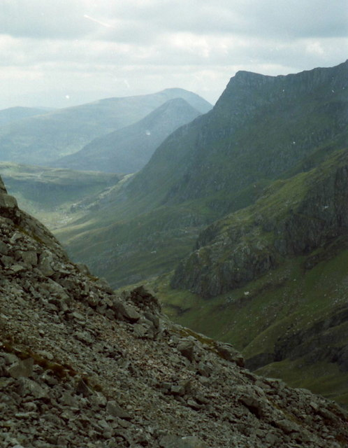 Scree slopes on Stob an Chul-Choire