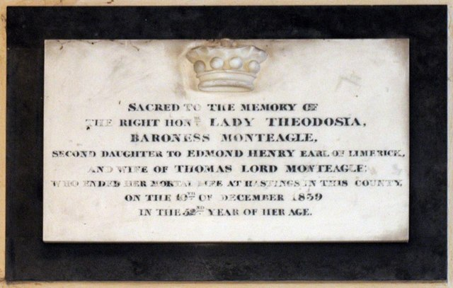 St Mary Magdalene, Tortington, Sussex - Wall monument