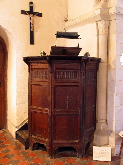 St Mary Magdalene, Tortington, Sussex - Pulpit