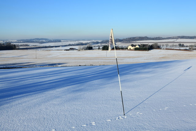 Snow Covered Green at Turnhouse Golf Course