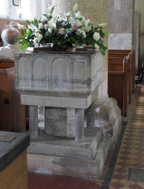 St Michael, Amberley, Sussex - Font
