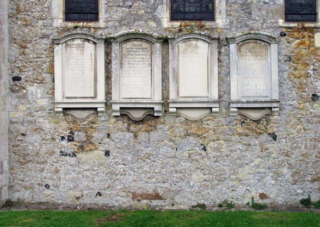St Michael, Amberley, Sussex - Wall monuments