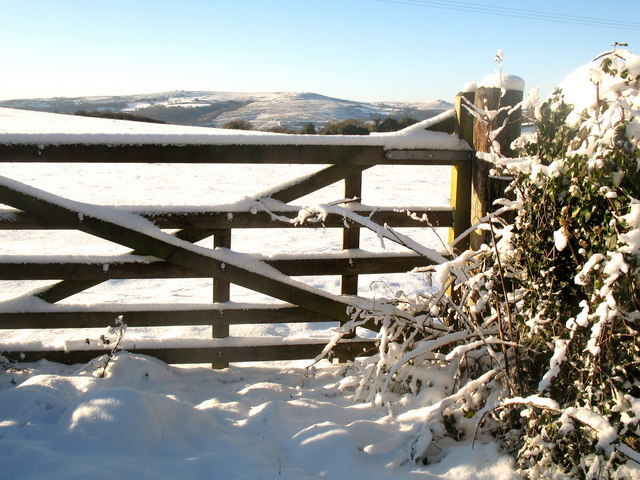 Five Bar Gate in the Snow