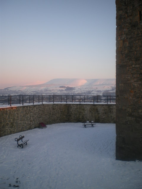 Pendle from Clitheroe Castle.