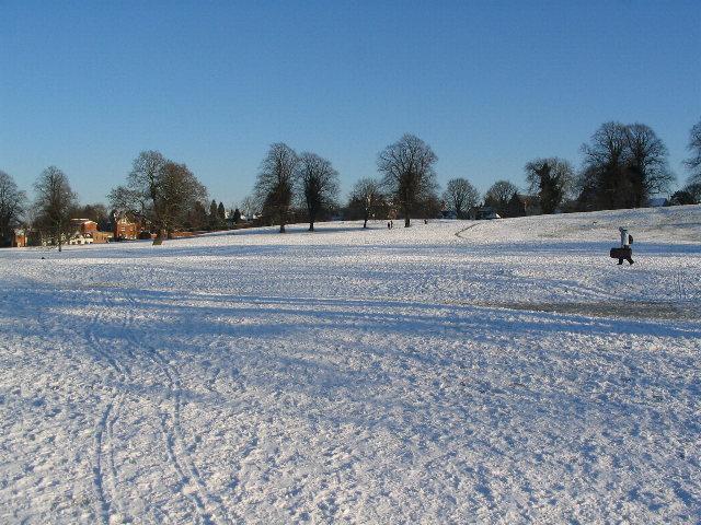 Abbey Fields in the snow