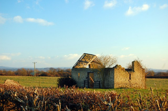 Ruined farm building