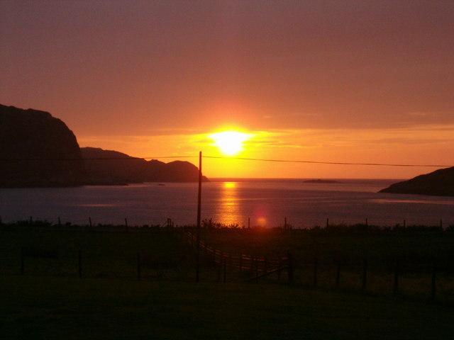 September Sunset at Inverkirkaig