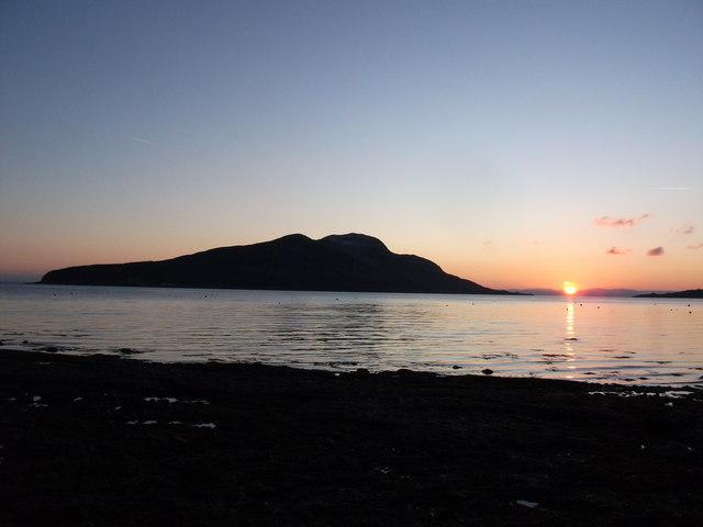 Sunrise from Lamlash