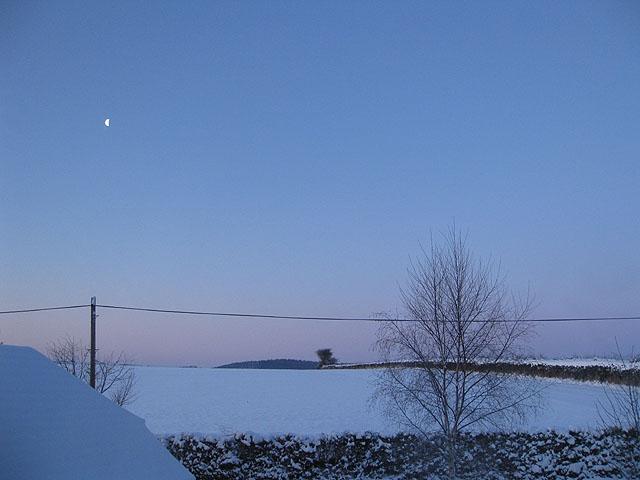 Moon at daybreak