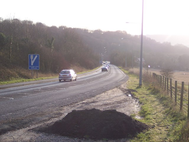 The A256 Whitfield Hill