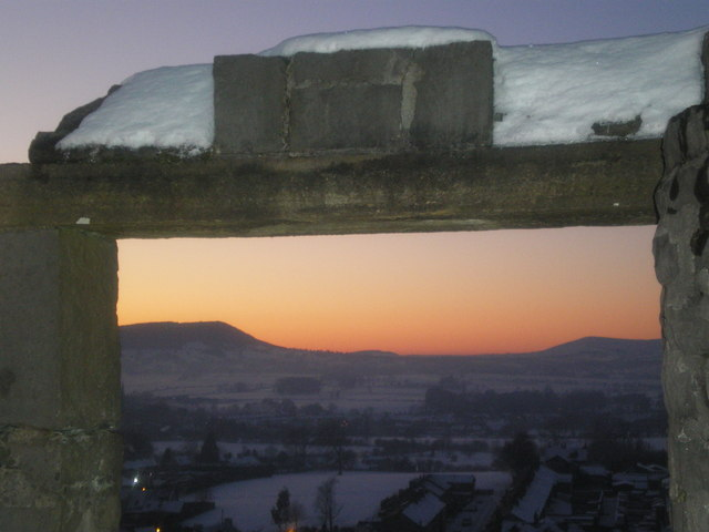 Stone framed Dusk - Kemple End, Beacon Fell, Parlick.