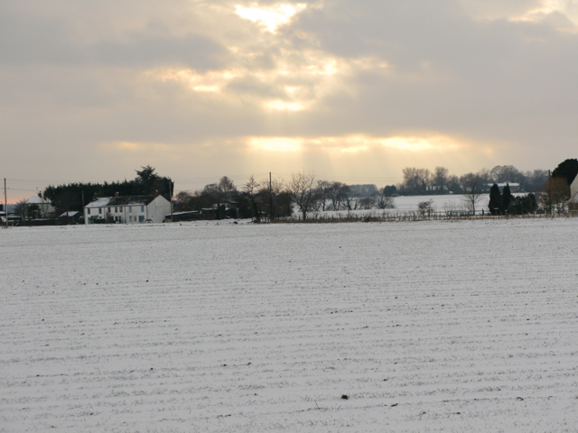 View across field from Chalkpit Hill