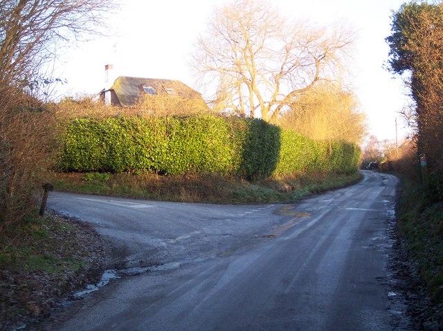Junction of Ruck Lane and Spelmonden Road