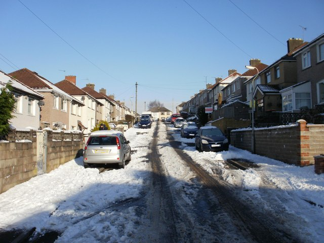 Snowy Graig Park Hill, Newport