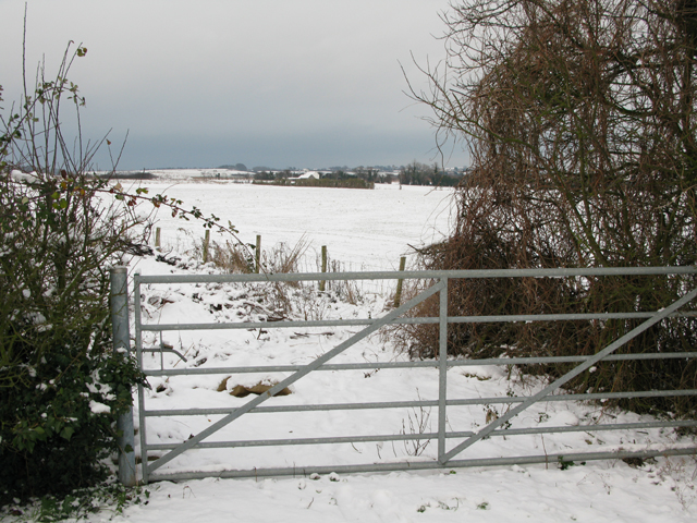 Field gate on the corner of Chalkpit Hill