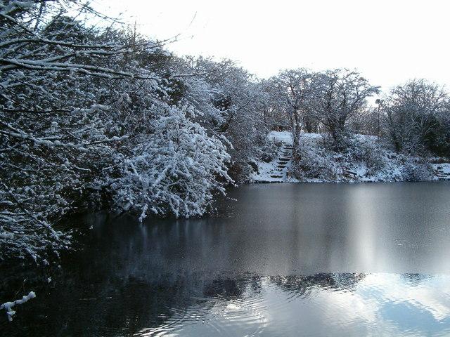Carleton Hill Fishery frozen jan 2010