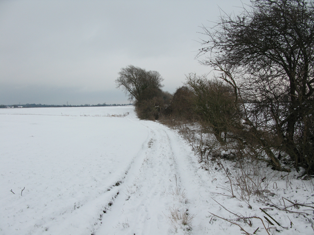 Snowy byway from Hammill to Eastry