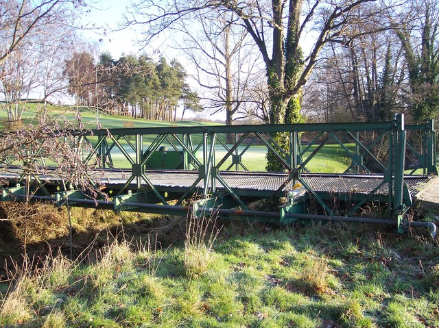 Footbridge in Lamberhurst Golf Club