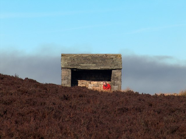 Gamekeeper's Shelter Above Stanage Edge