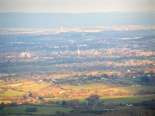 View over to Worcester