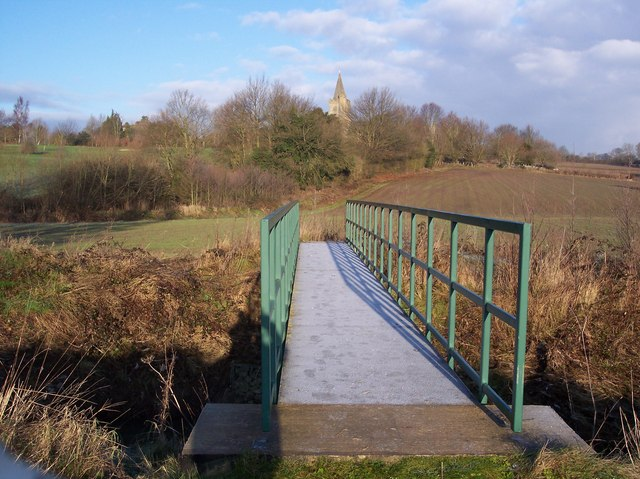 Footbridge over the River Teise