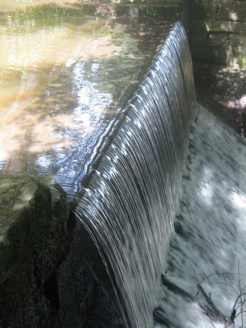 Waterfall at Markeaton Park, Derby
