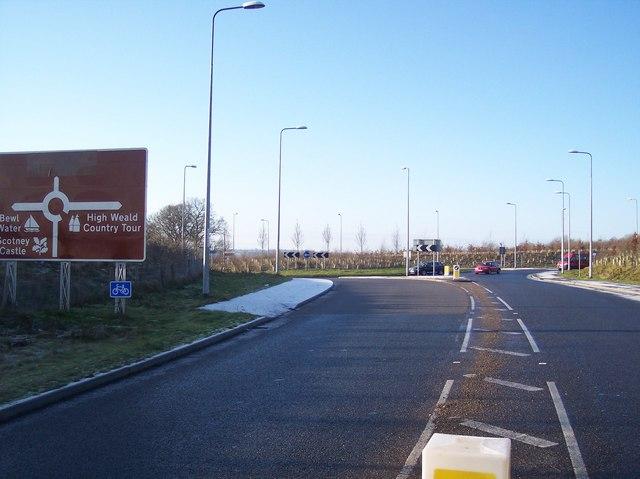 The A21 Roundabout near Forstal Farm