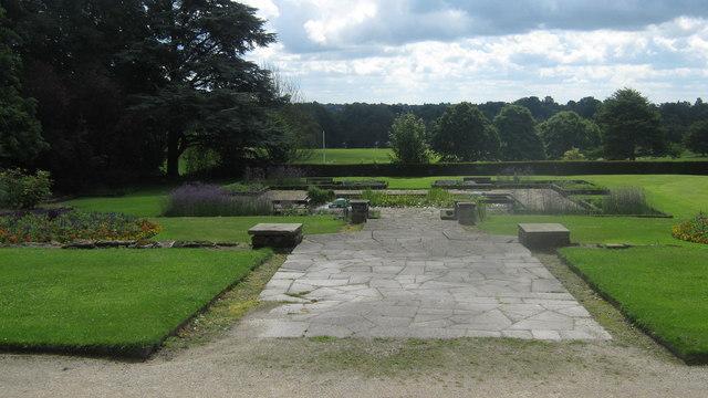 Allestree Hall Gardens in Allestree Park, Derby