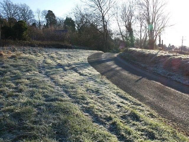 Frosty grass near Bradley Green
