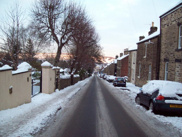 Winter view down Carr Road