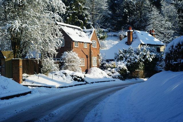 Houses at Gatton Bottom, Merstham, Surrey