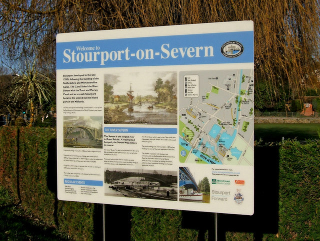 Information board, Riverside Meadows, Stourport-on-Severn
