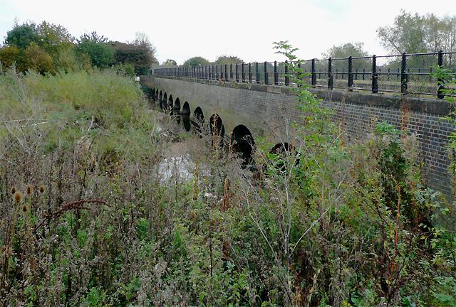 Aqueduct across the River Dove, Stretton, Derbyshire