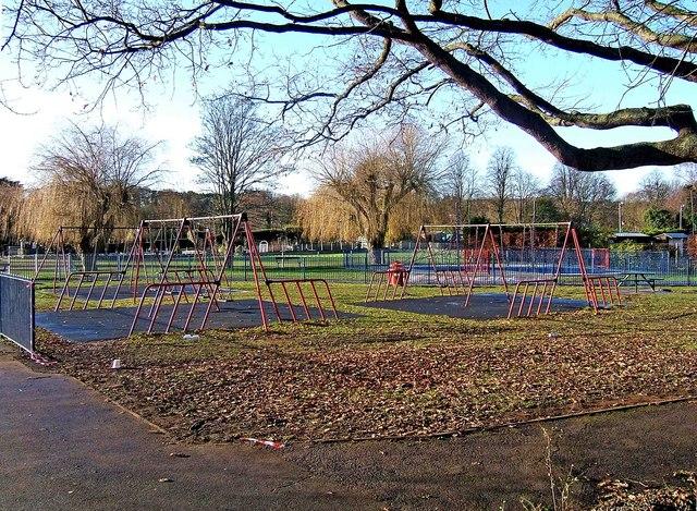 Swings at Riverside Meadows
