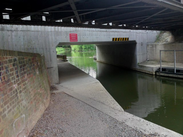 Basingstoke Canal Passes Under Ash Vail Railway Bridge