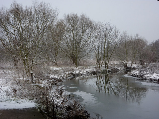 River Gipping in winter