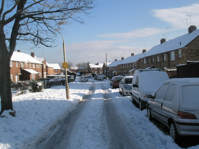 A snowy Hordle Road