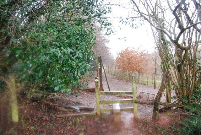 Stile near the West Somerset Railway