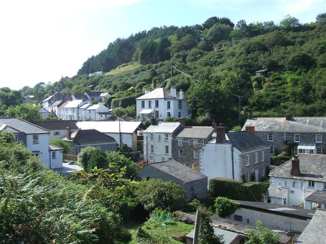 View away from the Harbour, Portloe
