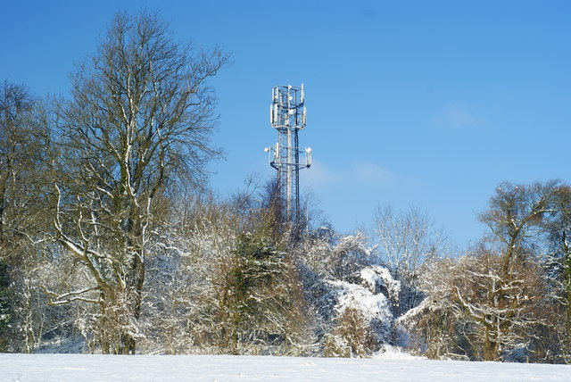Transmitter on Ashtead Hill, Merstham, Surrey