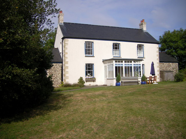 Lanuah B&B  Farmhouse is on the footpath between Beacon Cross & St  Ewe