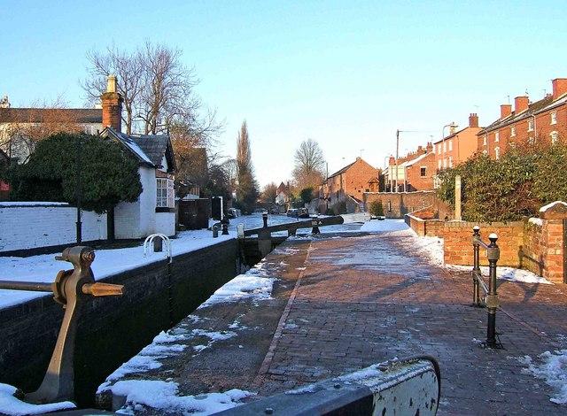 York Street Lock in winter, Staffs & Worcs Canal