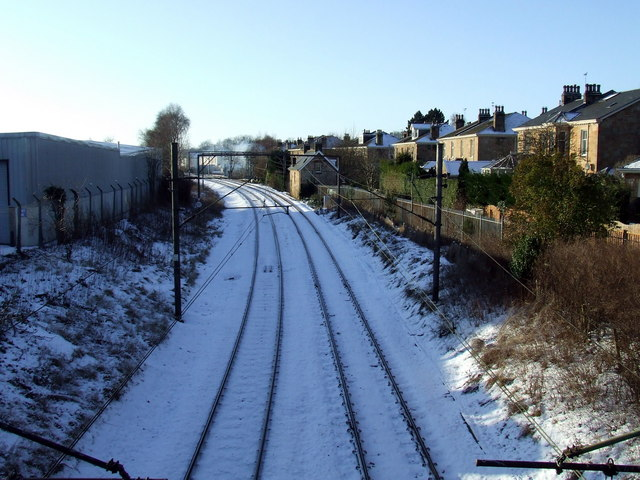 Railway line at Springkell Avenue
