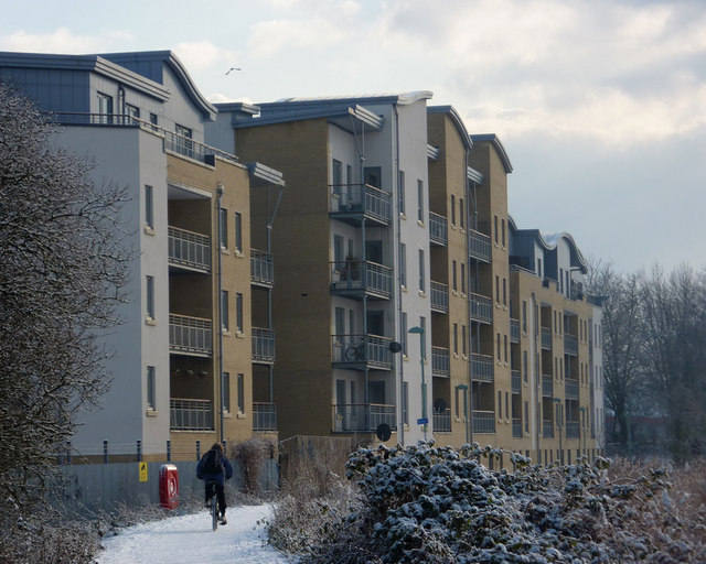 New flats overlooking the river Gipping